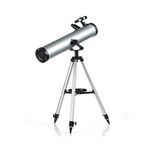 SEGIBUY Telescopio para Principiantes De Astronomía con Trípode De Acero Resistente, Telescopio Refractor Astronómico De 700X76 Mm para Adultos, Gran Regalo De Astronomía