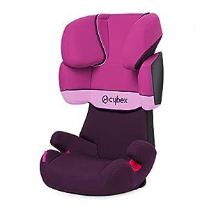 CYBEX Silver Silla de coche para niños Solution X, Grupo 2/3 1536 kg, Desde los 3 hasta los 12 años aprox., Sin Isofix, Purple Rain