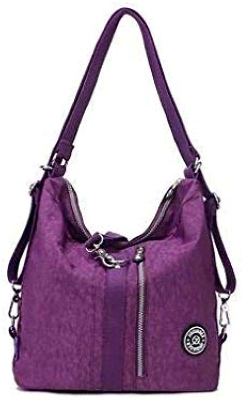 Women Shoulder Bag Casual Nylon Female Handbag Shopping Messenger Bags Fashion Handbags crosbody Bag Ladies Tote Purple