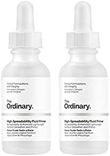 The Ordinary High-Spreadability Fluid Primer 30ml (Pack of 2)