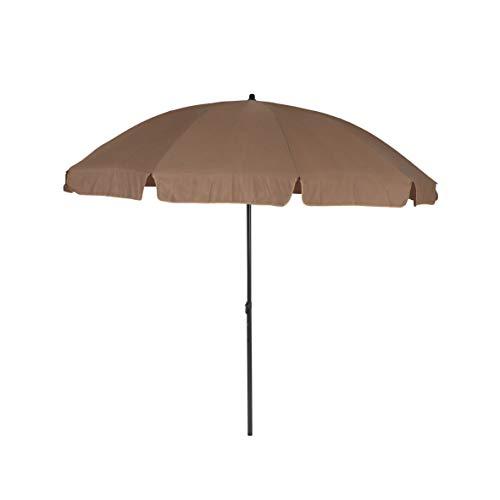 greemotion Sonnenschirm 3m mit UV-Schutz - Balkonschirm in Taupe-Grau - Gartenschirm knickbar - Terrassenschirm rund - Outdoor-Schirm für Balkon, Terrasse & Garten
