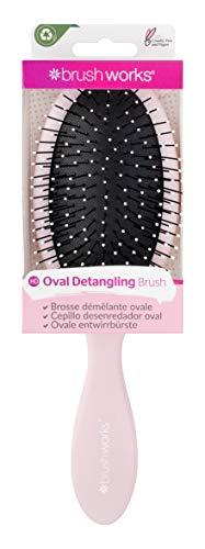 Brushworks Oval Detangling Hair Brush Brosse démélante ovale Pink