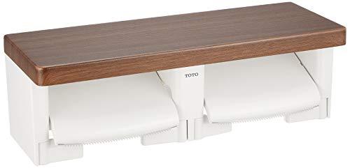 TOTO二連紙巻器棚付き(木質)YH600FMR#MWダルブラウン