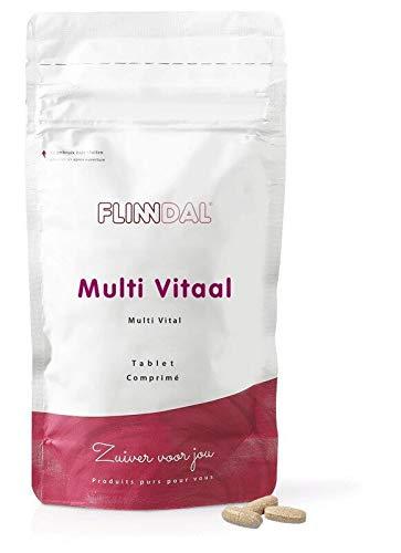 Flinndal - Multi vitaal - 90 tabletten - Vitamine C, A en zink voor weerstand - B-vitaminen voor energie - Voor 50+ en bij verhoogde behoefte - Hoge dosering
