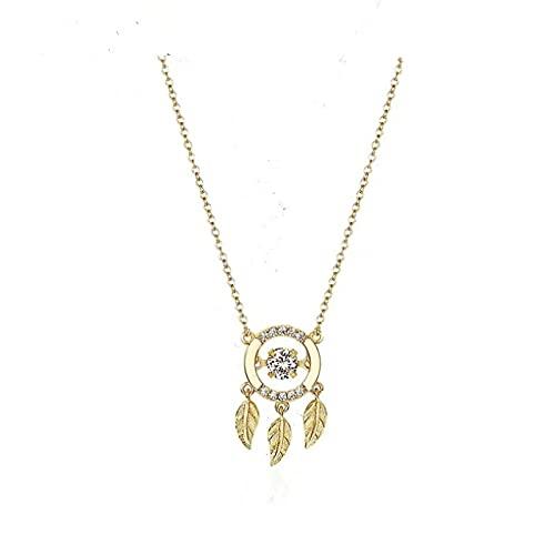 qianbanger Collares de plata925 Collar de Plata esterlina atrapasueños Colgante Inteligente Accesorios de joyería de Moda