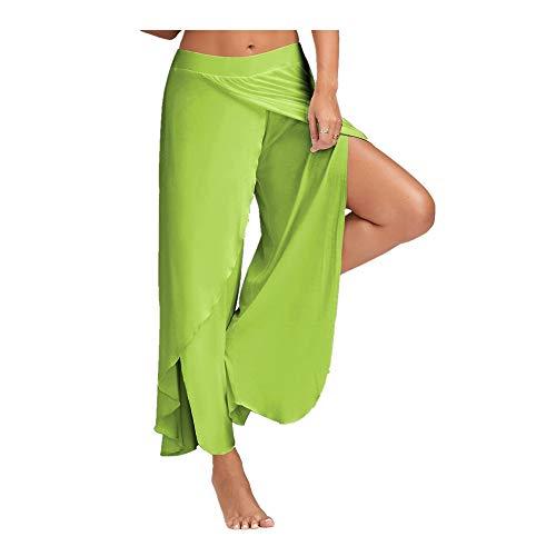 BEIXUNDIANZI Frauen Fitness Yoga Hosen Dünne Hohe Taille Sport Leggings Gym Elastische Romantische Gedruckt Lange Strumpfhosen Für Bauch Kontrolle Running Green 1 5XL