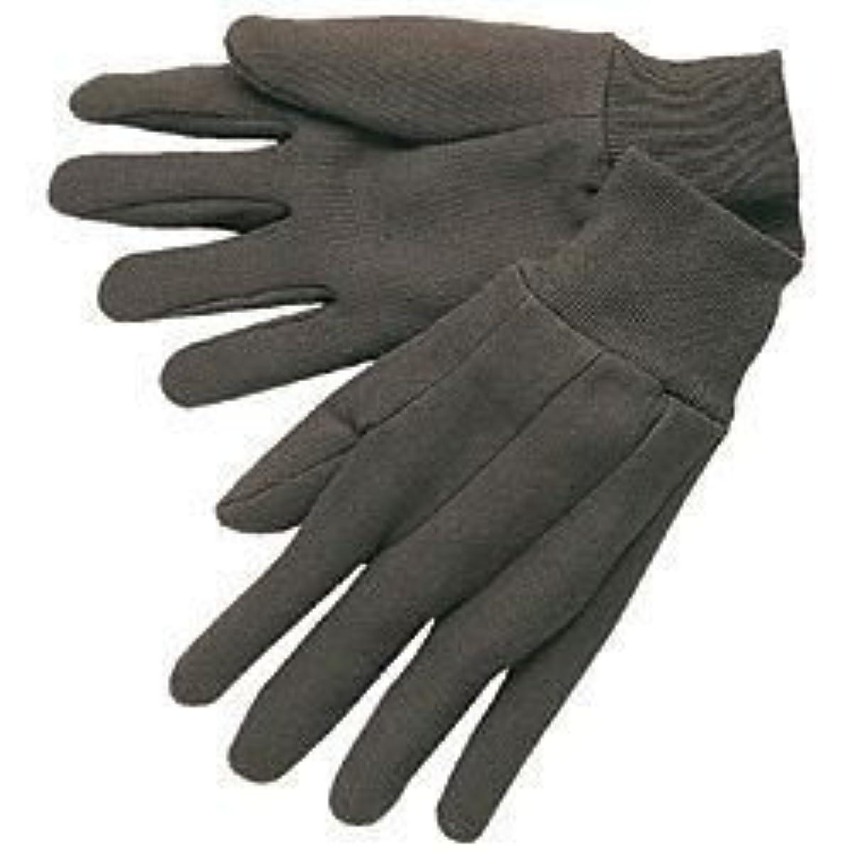 Memphis Glove 7102 ladies Cotton Jersey knit Wrist Work Gloves, Brown, 12 pair by Memphis Glove