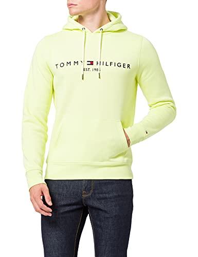 Tommy Hilfiger - Ubrania męskie - bluzy z kapturem męskie - męska bluza z kapturem Tommy Hilfiger - bluza z kapturem z logo, Lumen Flash, L