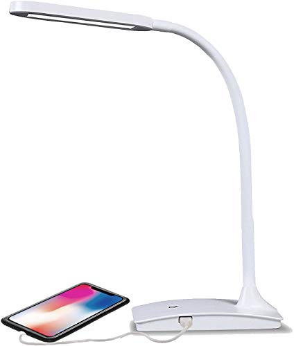 Desk Lamp with USB Charging Port - 6 Colors