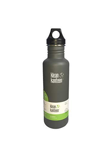 Klean Kanteen Limited Edition Classic Edelstahl Flasche mit Loop Cap, Kirkstone Grey