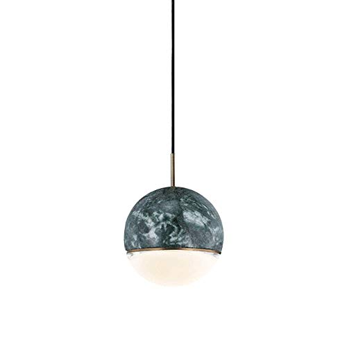WYFX Fixture Dimmable Modern Marble Plug inr Nordic Minimalist Glass Pen Shop Restaurant Hanging Light Round Wrought Iron Lamp 12W 3000K Three Color Optional Adjustable