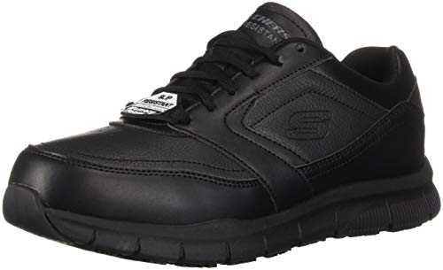 Skechers mens Nampa Food Service Shoe, Black, 9.5 US