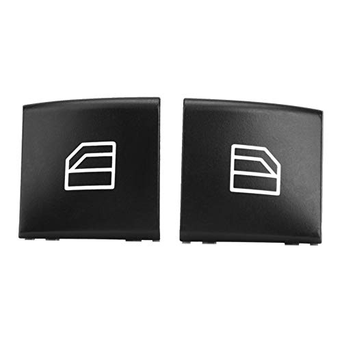 Tapa de interruptor de ventana anticorrosión de 2 piezas, tapa de interruptor de ventana de energía principal sin decoloración, para vehículo doméstico Mercedes-Benz