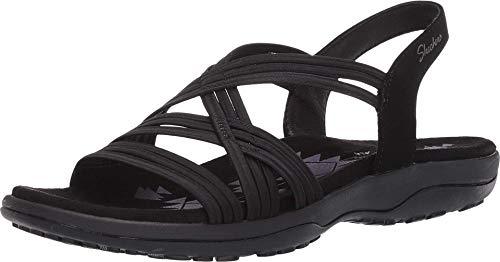Skechers Women's Multi Strap Sandal Sport, Black, 9 B (M)