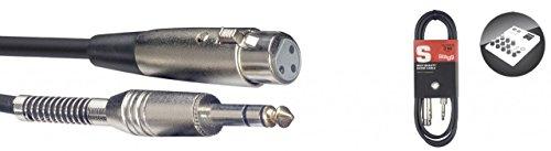 Stagg 18280 S Series 3 m 3 pin 1x XLR femmina/Jack cavo audio