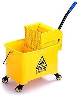Hygiene System Yellow 22litre Mop Bucket Trolley