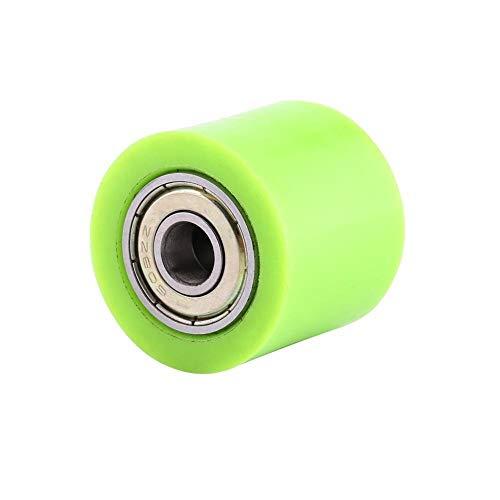 CHENWEI- Guía de rodillo de cadena de transmisión para bicicleta de calle, enduro motocross, ATV, 8 mm, 10 mm (color verde)