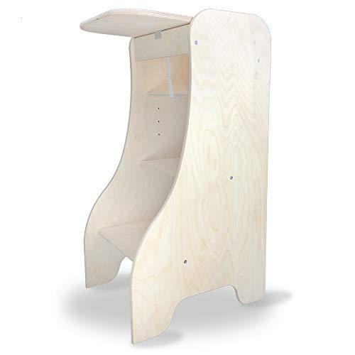 Stauf Tower - Silla infantil 3 en 1 de madera, diseño de torre de aprendizaje, fabricada en Alemania, altura regulable