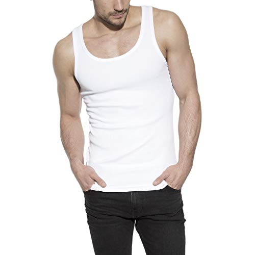 Bread & Boxers Tank Ribbed White M