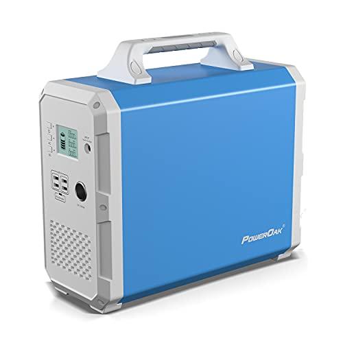 PowerOak Bluetti EB150 1500Wh Generador Solar Portátil con Inversor de 1000W y Salidas AC/DC/USB, Generador Electrico Solar Power Station con Batería de Litio para Camping y Autocaravana