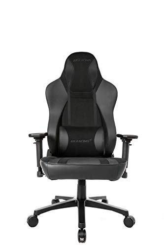 AKRacing Gaming Chair Office Obsidian Softouch Silla de Oficina, Piel sintética de Poliuretano, Tacto Suave/Negro, Normal