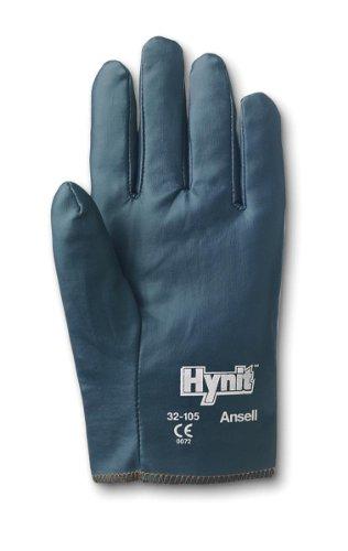 Ansell Hynit 32-105 Guanto Oleorepellente, Protezione Meccanica, Blu, Taglia 8 (12 Paia)