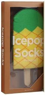 AKA, Sethú: Idea regalo calcetines unisex hombre y mujer envasados con temática de hielo, varios sabores y colores, helado sandía, piña, fresa y chocolate San Valentín Amor