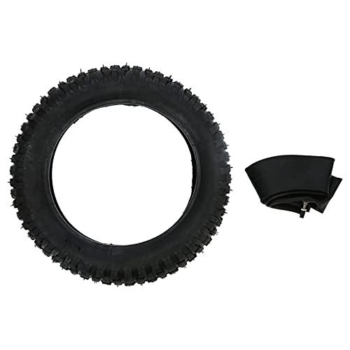 Yctze Juego de tubo interior de neumático3.00-12 (80/100-12) Juego combinado de tubo interior de neumático para moto de cross Knobby Pit Motocross todoterreno