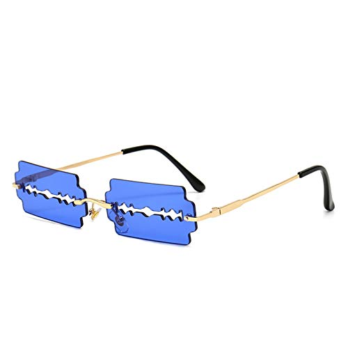 SXRAI Gafas de Sol sin Montura Gafas de Sol para Mujer Gafas sin Montura para Hombre Gafas Uv400,C2