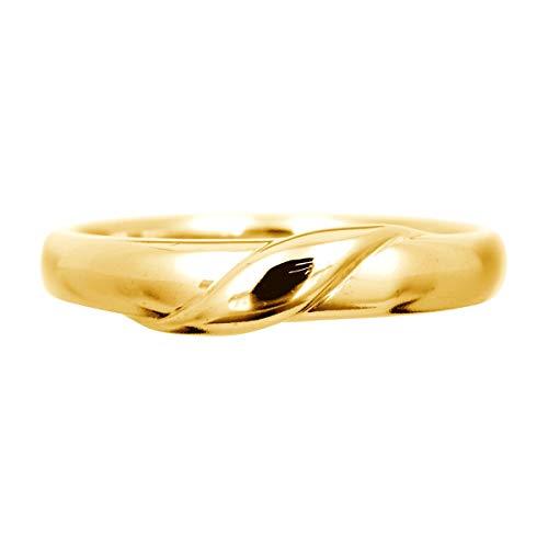 [ココカル]cococaru ペアリング ホワイトゴールド リング 指輪 K10 ホワイトゴールド ピンクゴールド イエローゴールド マリッジリング 結婚指輪 日本製 (イエローゴールド 11)