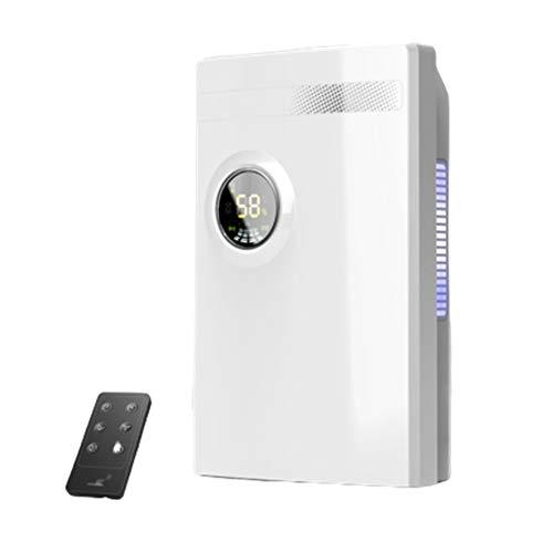 XDJ Deshumidificador Control Remoto Deshumidificador Casa Silencio, Humedad Monitor, Dormir Modo, Continuo Drenaje, Fotocatalizador Purificación, 24 Horas Temporizador