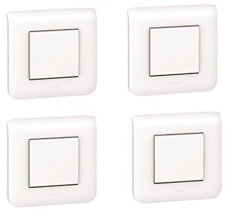 Legrand 200092 Interrupteurs ou Va et Vient avec Plaque Mosaic, Blanc