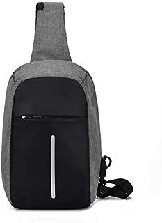 جيب صدر للرجال للشحن مضاد للسرقة مدخل USB - حقيبة كتف غير رسمية.