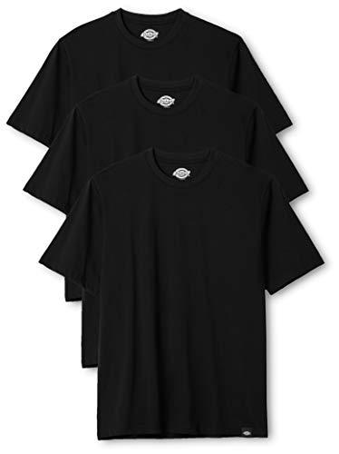 Dickies Herren Rundhals T-Shirt, 3er Pack, Black, S