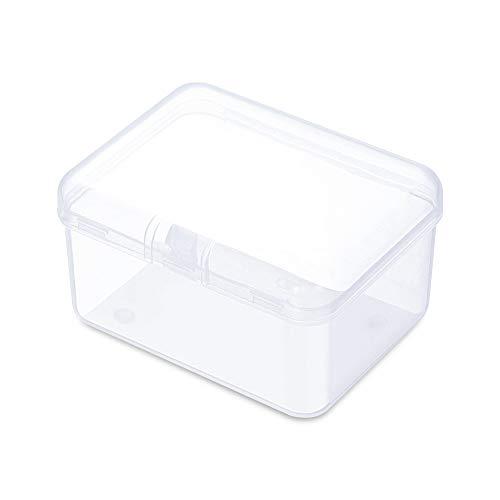 Lot de 10 boîtes de rangement transparentes en plastique pour cotons-tiges, aiguilles de tatouage, outils de maquillage, cotons-tiges