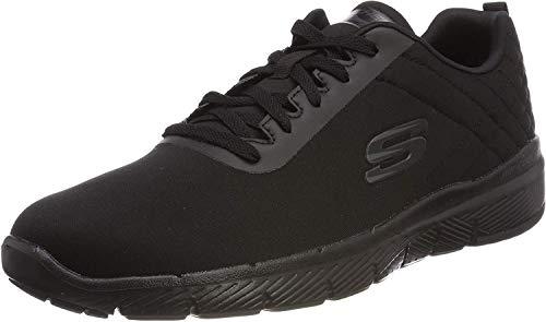 Skechers Flex Advantage 3.0-Jection, Zapatillas Hombre, Negro (BBK Black Mesh/Trim), 40 EU