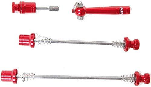 CONTEC Unisex– Erwachsene SQR Select + Schnellspannset, red, Set