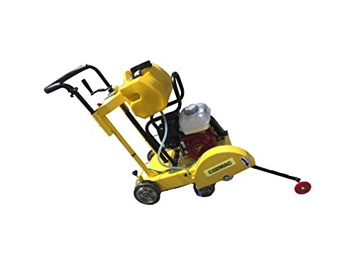 CORMAC CQ300H walk behind floor saw max 14' blade gasoline engine GX160 and water tank INCLUDES 1 x 14' concrete blade