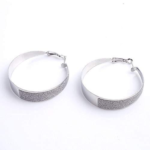 Dames mode grote oorbellen sieraden scrub stickers groot formaat cirkel cirkel vrouwen sieraden oorbellen
