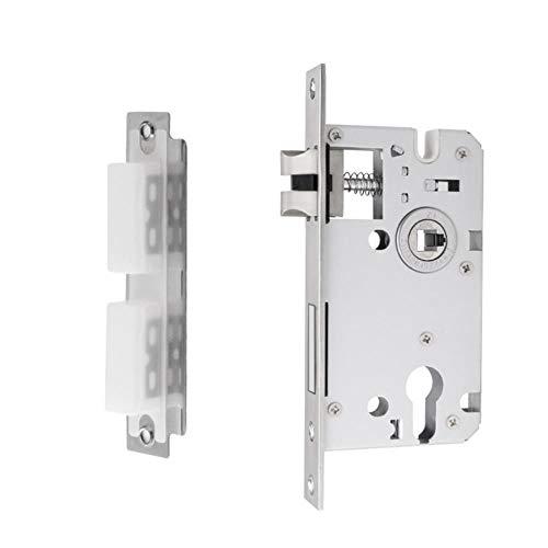 Manijas de aleación de aluminio para puertas interiores, dormitorio, accesorios para el hogar, puerta de entrada, palanca, tubo, perilla, caja de cerradura de hardware
