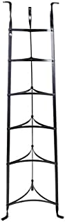 Enclume 6-Tier Cookware Stand, Free Standing Pot Rack, Hammered Steel (Unassembled)