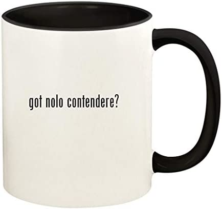 got nolo contendere 11oz Ceramic Colored Handle and Inside Coffee Mug Cup Black product image
