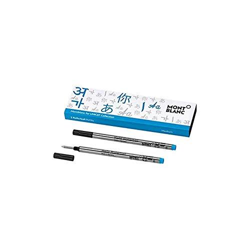 Montblanc también ofrece accesorios de alta calidad para sus finos instrumentos de escritura, incluyendo el juego de recambios de 2 piezas de tamaño M como complemento perfecto para los bolígrafos. Los recambios de recambio de Unicef Blue son adecuad...