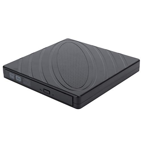 Optical Drive, ABS Computer Accessory Ultra‑thin Black Compact External Optical Drive, for Vista OS X Operating System Windows