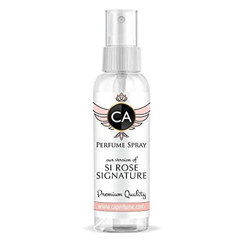 CA Perfume Perfume feminino Impression of Si Rose Signature com fragrância recarregável Atomizador tamanho viagem concentrado hipoalergênico vegano de longa duração Eau de Parfum (Colônia) 1 Fl Oz/60 ml - X1