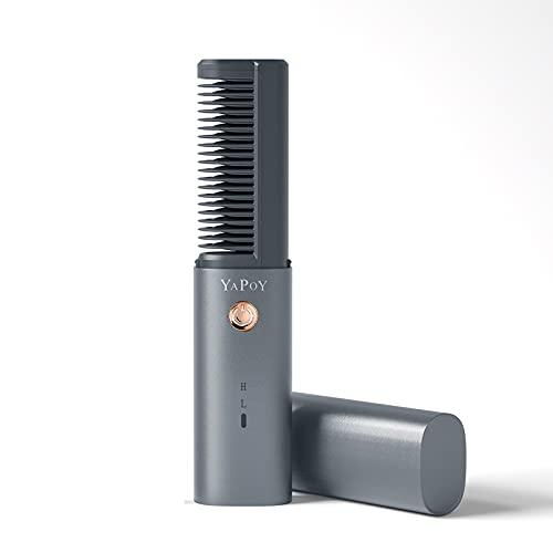 YAPOY Planchas para el pelo Cepillo Alisador con batería recargable de 2600...