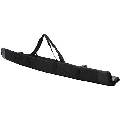 Bolsa de poste Bolsa de poste de tela Oxford resistente Bolsa de transporte de varilla Bolsa de poste plegable para pescar(black)