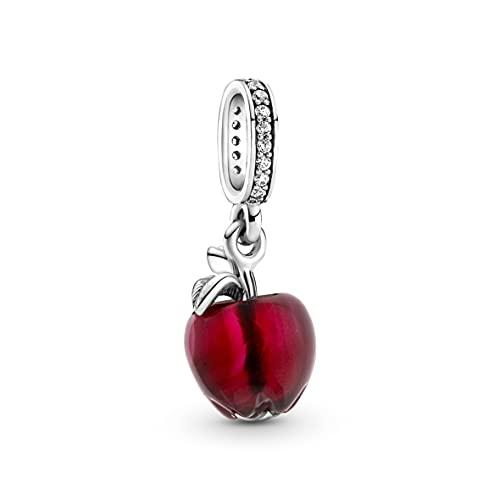 Pandora Colgante de cristal de Murano de manzana roja en plata de ley con circonitas de la colección Pandora Moments 799534C01