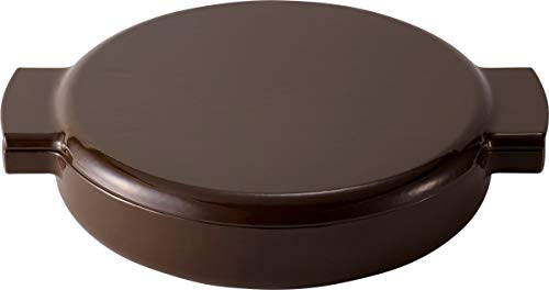 Made in Japan ovject Enameled Cast Iron Pan - 2 Handle [23cm] (Brown)