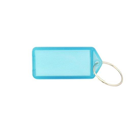 Schlüsselanhänger mit S-Haken und Beschriftungsfeld - 55x22mm - mehrere Farben zur Auswahl - einzeln oder im 10er Pack